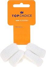 Parfumuri și produse cosmetice Elastice de păr 4 buc, albe - Top Choice