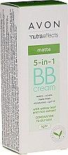 Parfumuri și produse cosmetice BB cremă matifiantă 5 în 1 SPF 15 - Avon Nutra Effects Matte BB Cream With Willow Leaf And Rice Extract