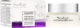 Parfumuri și produse cosmetice Cremă anti-îmbătrânire cu extract de cânepă, de noapte pentru față - Sostar Cannabidiol Anti Ageing Night Cream With Cannabis Extract