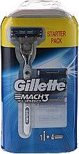 Parfumuri și produse cosmetice Aparat de ras cu 4 rezerve - Gillette Mach 3 Turbo