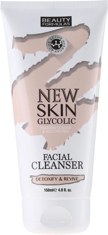 Lăptișor pentru curățare - Beauty Formulas New Skin Glycolic Facial Cleanser — Imagine N1