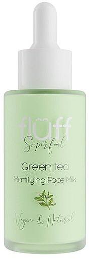 Lapte matifiant și hidratant cu ceai verde pentru față - Fluff Green Tea Mattifying Face Milk