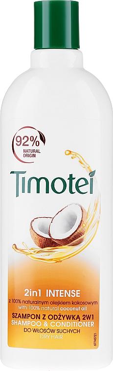 "Șampon-Balsam de păr ""Trandafir și ulei de nucă de cocos"" - Timotei Jericho Rose Shampoo & Conditioner"