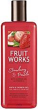 Parfumuri și produse cosmetice Gel de duș - Grace Cole Fruit Works Hand Wash Strawberry & Pomelo