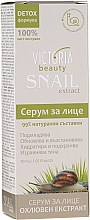 Parfumuri și produse cosmetice Ser cu extract de melc pentru față - Victoria Beauty Intensive Anti-aging Serum with Snail Extract