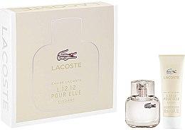 Parfumuri și produse cosmetice Lacoste Eau De L.12.12 Pour Elle Elegant - Set (edt/30ml + sh/gel/50ml)