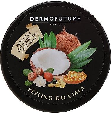 Scrub cu unt de shea și nucă de cocos pentru corp - DermoFuture Sugar Body Scrub