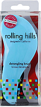 Parfumuri și produse cosmetice Perie de păr, albastră - Rolling Hills Detangling Brush Travel Size Sky Blue
