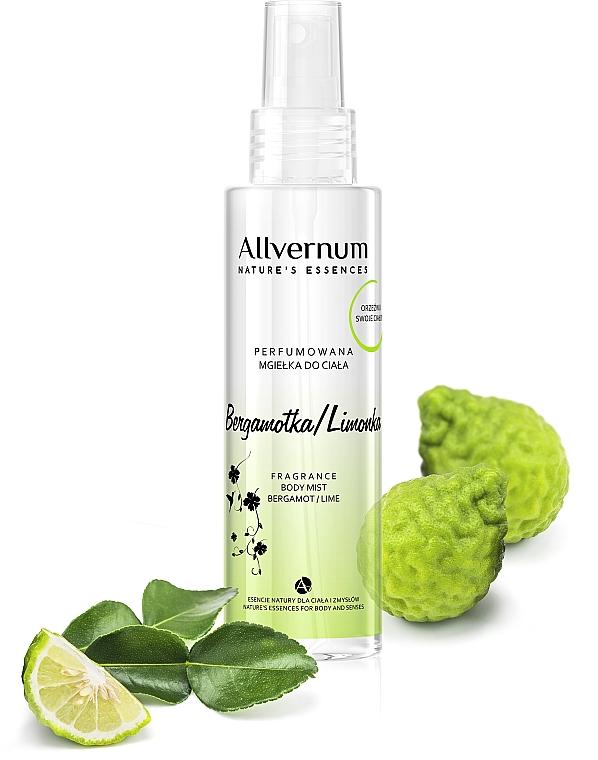 """Spray parfumat pentru corp """"Lime și bergamotă"""" - Allvernum Allverne Nature's Essences Body Mist"""
