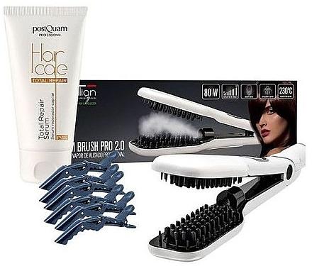 Set - Iditalian Women's Hair Dressing Set (h/ser/75ml + st/brush/1pcs + clamp/6psc) — Imagine N1