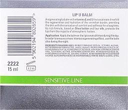 Balsam pentru buze cu vitamina E și U - Clarena Sensitive Line Lip U Balm — Imagine N2