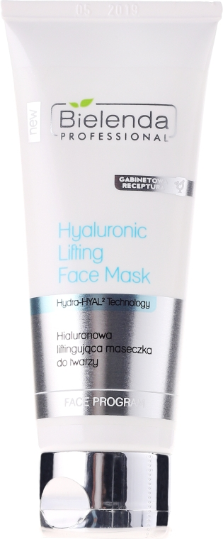 Mască-lifting hialuronică pentru față - Bielenda Professional Hydra-Hyal Injection Hyaluronic Lifting Face Mask