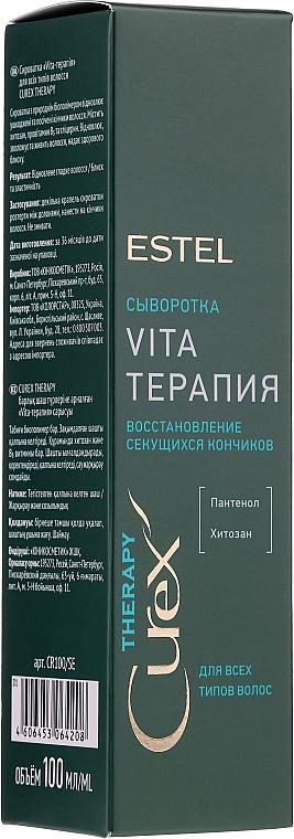 Ser pentru vârfuri despicate - Estel Professional Curex Therapy Serum
