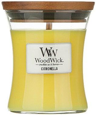 Lumânare parfumată în suport de sticlă - WoodWick Citronella Medium Candle — Imagine N1