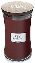 Parfumuri și produse cosmetice Lumânare aromată cu suport din sticlă - WoodWick Hourglass Candle Black Cherry