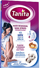 Parfumuri și produse cosmetice Benzi depilatoare pentru față și corp cu mătase - Tanita Wax Strips Silk Argan & Cotton Oil