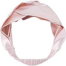 """Parfumuri și produse cosmetice Bentiță din mătase naturală pentru păr, roz pudră """"Twist"""" - Makeup Hairband Twist Powder"""