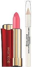 """Parfumuri și produse cosmetice Set - Collistar Rossetto Vibrazioni Di Colore """"Begonia"""" (lipstick/4ml + l/pencil/1.1g)"""