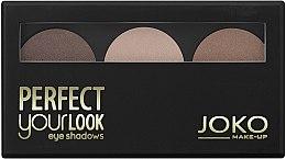 Parfumuri și produse cosmetice Fard de pleoape, trei culori - Joko Perfect Your Look Trio Eye Shadows