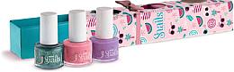 Parfumuri și produse cosmetice Set lac de unghii pentru copii 3x7 ml - Snails Mini Bebe Berry-Licious