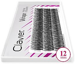 Parfumuri și produse cosmetice Gene false, 12 mm - Clavier V-Shape Eyelashes