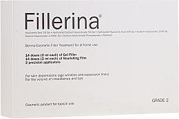 Parfumuri și produse cosmetice Sistem dermato-cosmetic, nivel 2 - Fillerina Dermo-Cosmetic Filler Treatment Grade 2 (gel/30ml + cr/30ml + applicator/2buc)