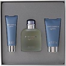 Parfumuri și produse cosmetice Dolce & Gabbana Light Blue Pour Homme - Set (edt 125 + sh/g 50 + a/sh balm 75)
