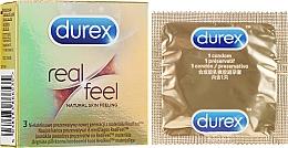 "Parfumuri și produse cosmetice Prezervative ""Real feel"", 3 buc - Durex Real Feel"