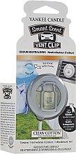 Parfumuri și produse cosmetice Difuzor arome mașină - Yankee Candle Smart Scent Vent Clip Clean Cotton