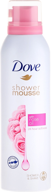Spumă de duș - Dove Rose Oil Shower Mousse