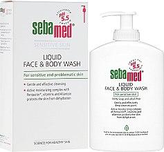 Parfumuri și produse cosmetice Loțiune pentru față - Sebamed Liquid Face and Body Wash
