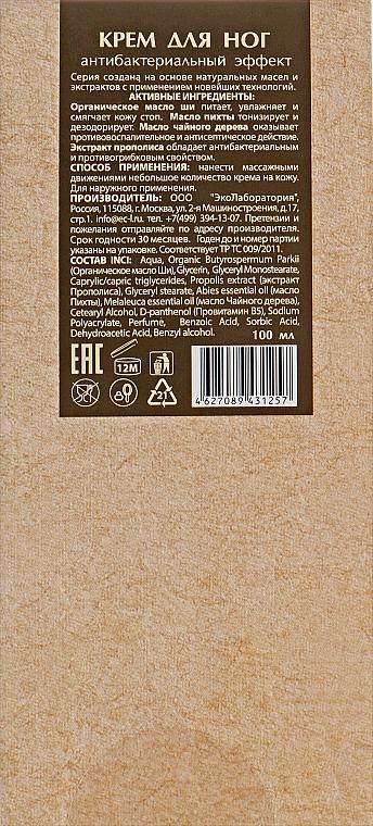 """Крем для ног """"Антибактериальный"""" - ECO Laboratorie Foot Cream — фото N3"""