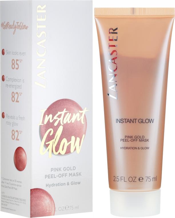 Mască hidratantă pentru față - Lancaster Instant Glow Peel-Off Pink Gold Mask