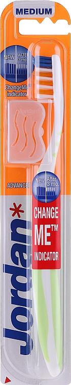 Periuță de dinți, duritate medie + capac, acvamarin - Jordan Advanced Medium — Imagine N1