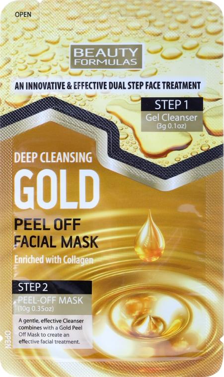 Mască de față - Beauty Formulas Deep Cleansing Gold Peel Off Facial Mask — Imagine N1