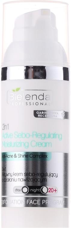 Cremă activă seboregulatoare 2în1 cu efect hidratant - Bielenda Professional Exfoliating Face Program Active Sebo-Regulating Moisturizing Cream