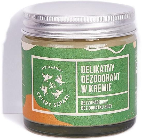 Нежный дезодорант-крем без добавления соды - Cztery Szpaki — фото N1
