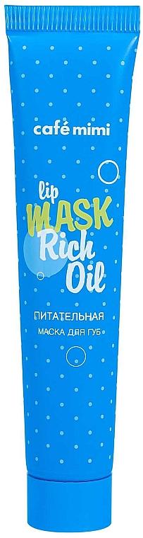 Mască hidratantă pentru buze - Cafe Mimi Lip Mask Rich Oil