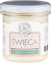 """Parfumuri și produse cosmetice Lumânare parfumată pentru masaj """"Aloe și Pomelo"""" - E-Fiore Massage Candle"""