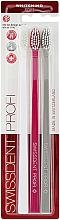 Parfumuri și produse cosmetice Set periuțe de dinți, extra moi, roșu + gri + alb - Swissdent Profi Gentle Extra Soft Trio-Pack