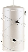 Parfumuri și produse cosmetice Lumânare aromată, albă, 18x7cm - Artman Christmas Garland