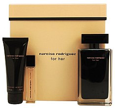 Parfumuri și produse cosmetice Narciso Rodriguez For Her - Set (edt/100ml + edt/10ml + b/lot/75ml)