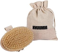 Parfumuri și produse cosmetice Perie pentru masaj și baie, fibră moale, maro deschis - Hhuumm № 3