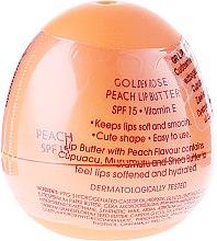 Parfumuri și produse cosmetice Balsam pentru buze cu ulei și piersic - Golden Rose Lip Butter SPF15 Peach