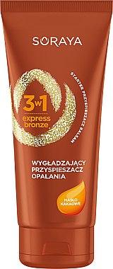 Soluție matifiantă cu ulei de cacao - Soraya 3w1 Express Bronze Cacao Tan Activator — Imagine N1