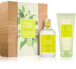 Parfumuri și produse cosmetice Maurer & Wirtz 4711 Aqua Colognia Lime & Nutmeg - Set (col 170ml +sh/gel/200ml)