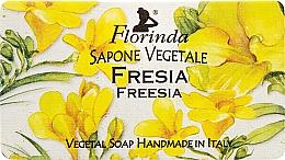 "Parfumuri și produse cosmetice Săpun natural ""Frezie"" - Florinda Sapone Vegetale Freesia"