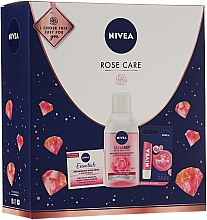 Parfumuri și produse cosmetice Set - Nivea Rose Care (lip/balm/5.5ml + cr/50ml + micellar/water/400)