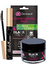 Parfumuri și produse cosmetice Set - Dermacol Black Magic (f/gel/50ml + f/mask/1pc + mascara/10ml)