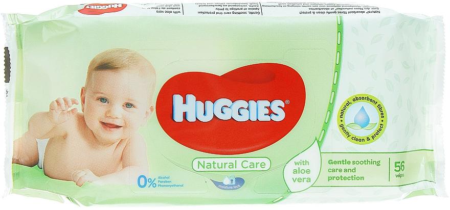 Șervețele umede pentru copii, Natural Care, 56 bucăți - Huggies